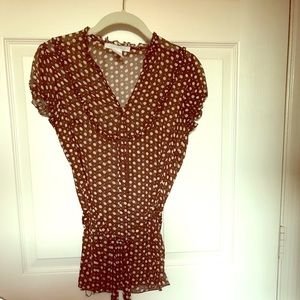 Charlotte Russe belted Blouse